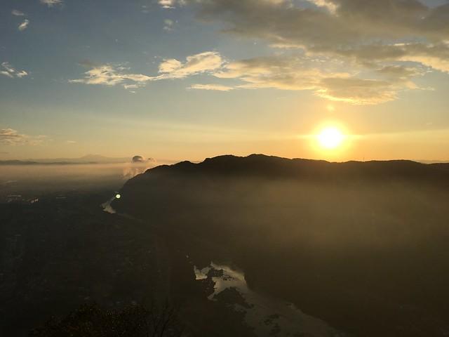 城山 猿啄城展望台 2階からの眺望