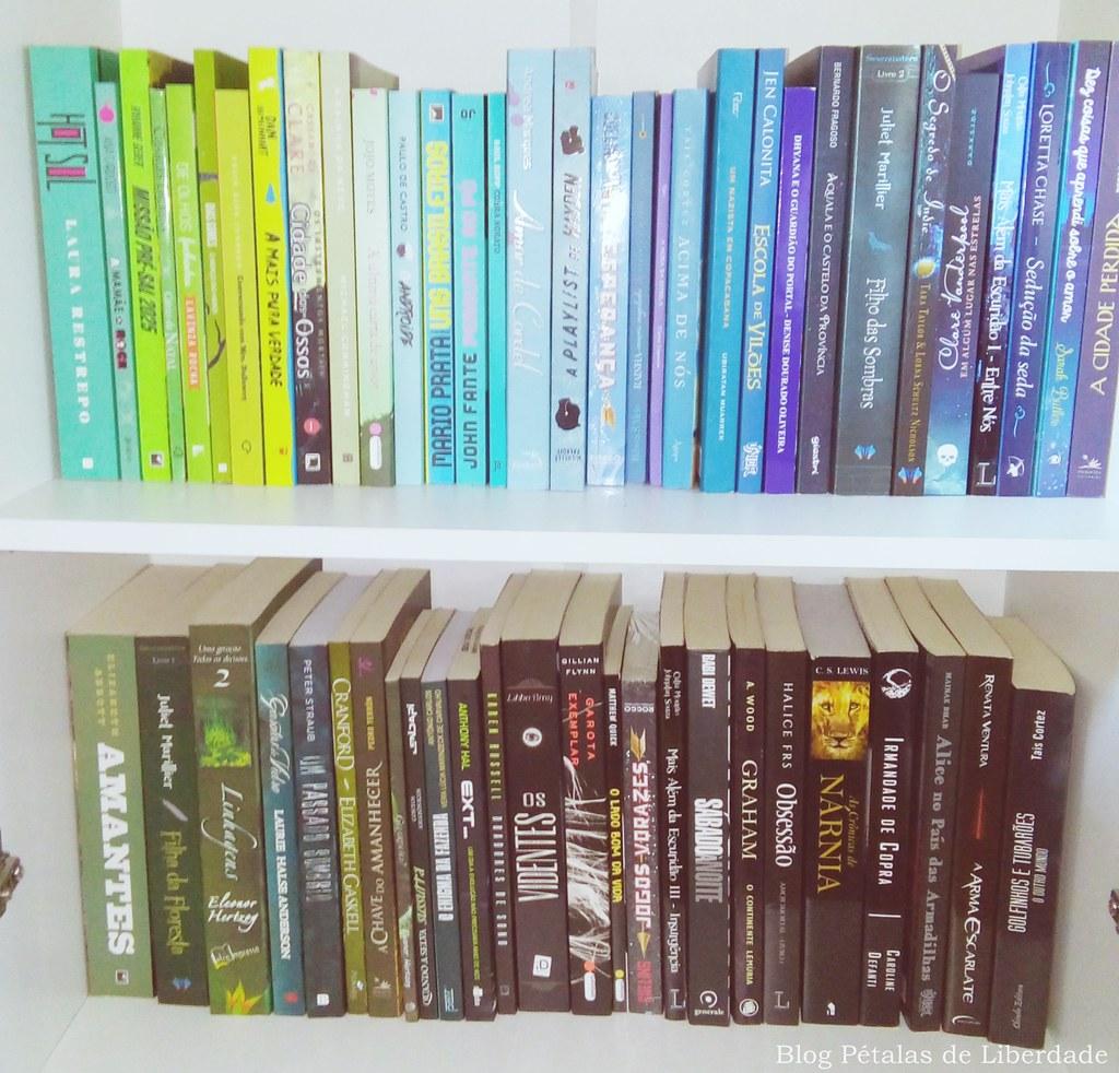 livro, azul, verde, preto