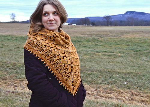 Golden Valley Shawl