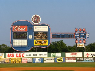 Guitar scoreboard for the Nashville Sounds | by SeeMidTN.com (aka Brent)