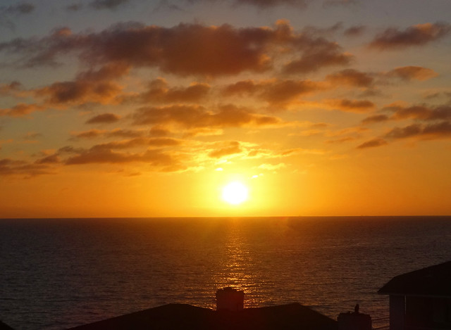 Sunset over Catalina Island, Laguna Beach, CA 2016