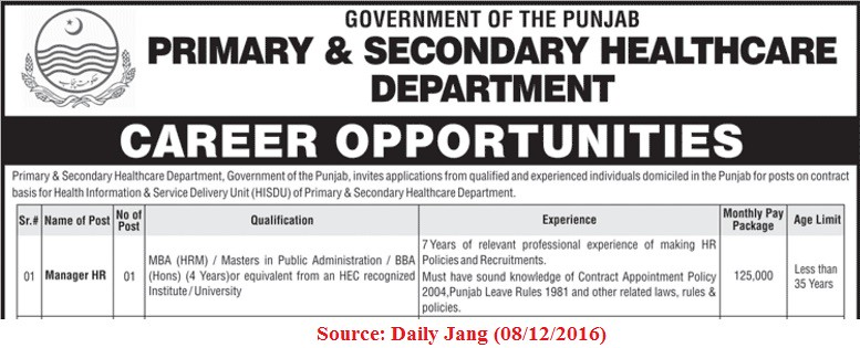 healthcare-punjab-job