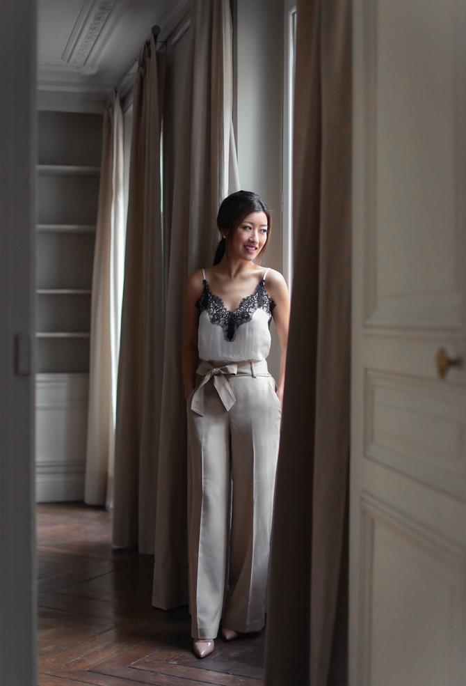 ann taylor pants parisian elegant outfit petite fashion blog