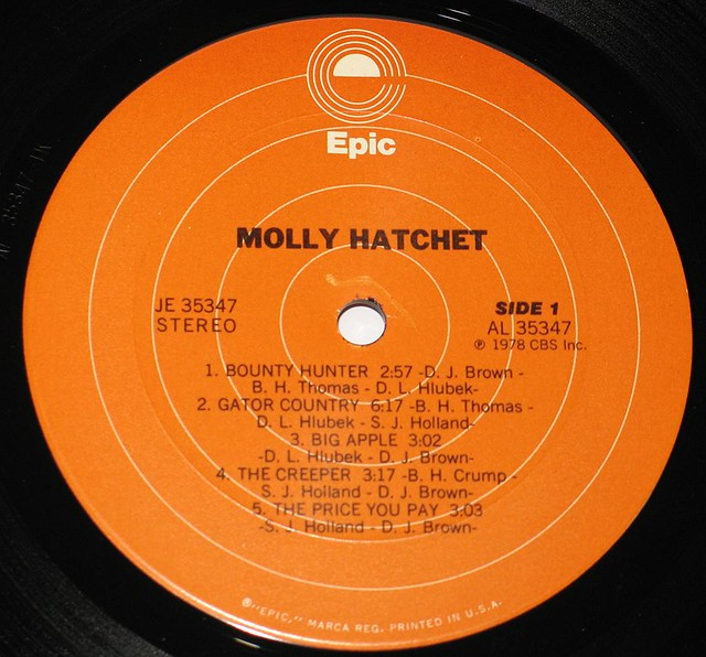 "MOLLY HATCHET S/T SELF-TITLED 12"" LP"