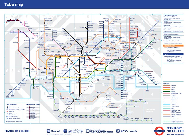 London Tube map 2016