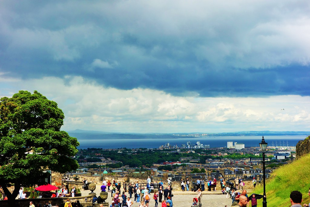 View of Firth of Forth and Fife Coast from Edinburgh Castle