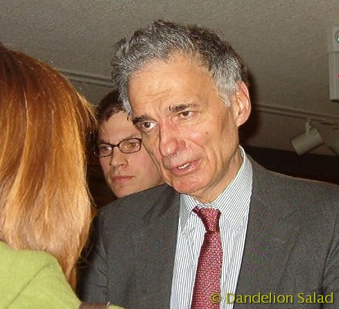 Ralph Nader after the speech - Green Lecture