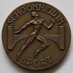 1928 IX Olympiad Amsterdam Medal obverse