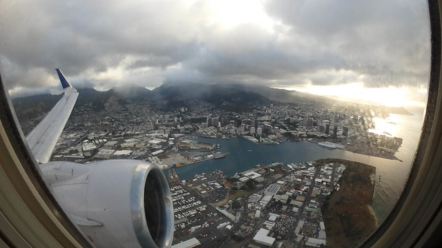 Departing Honolulu