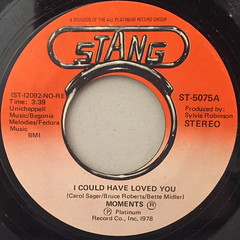 MOMENTS:I COULD HAVE LOVED YOU(LABEL SIDE-A)