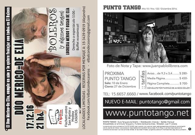 Revista Punto Tango 122 Diciembre 2016 - 1