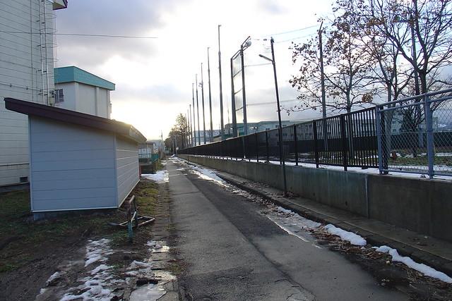 An empty school route