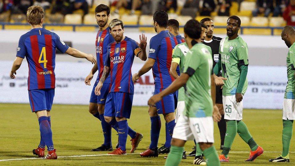 برشلونة والأهلي
