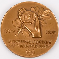 Medallic Art Company 50th Anniversary Medal reverse