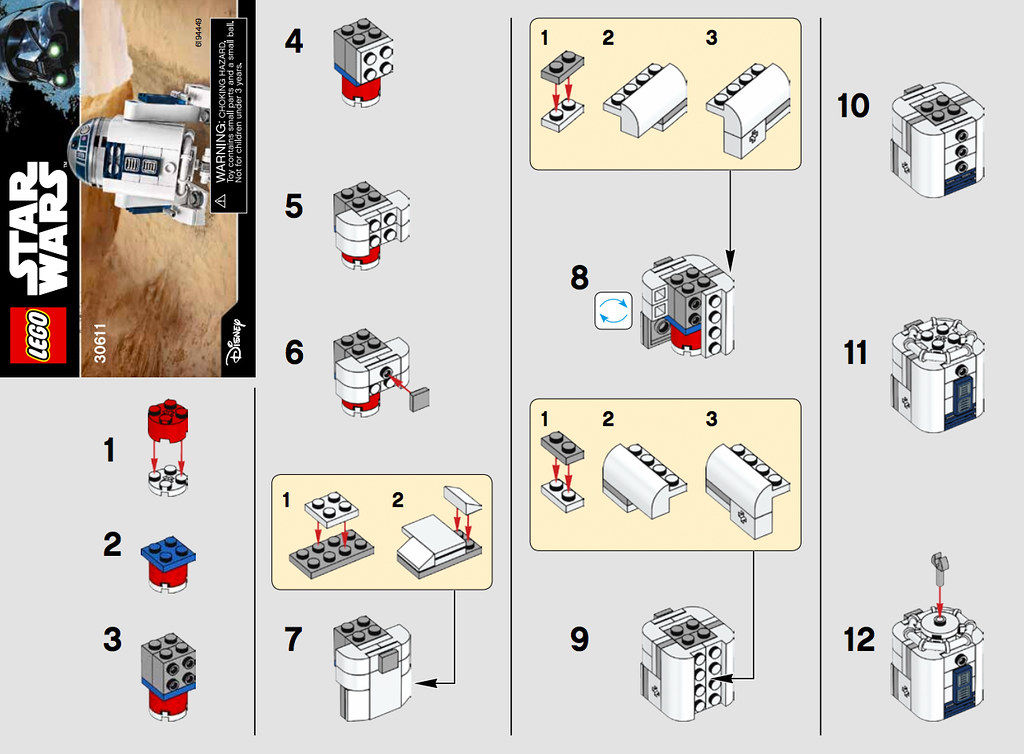 LEGO Star Wars R2D2 (30611) Polybag Instructions