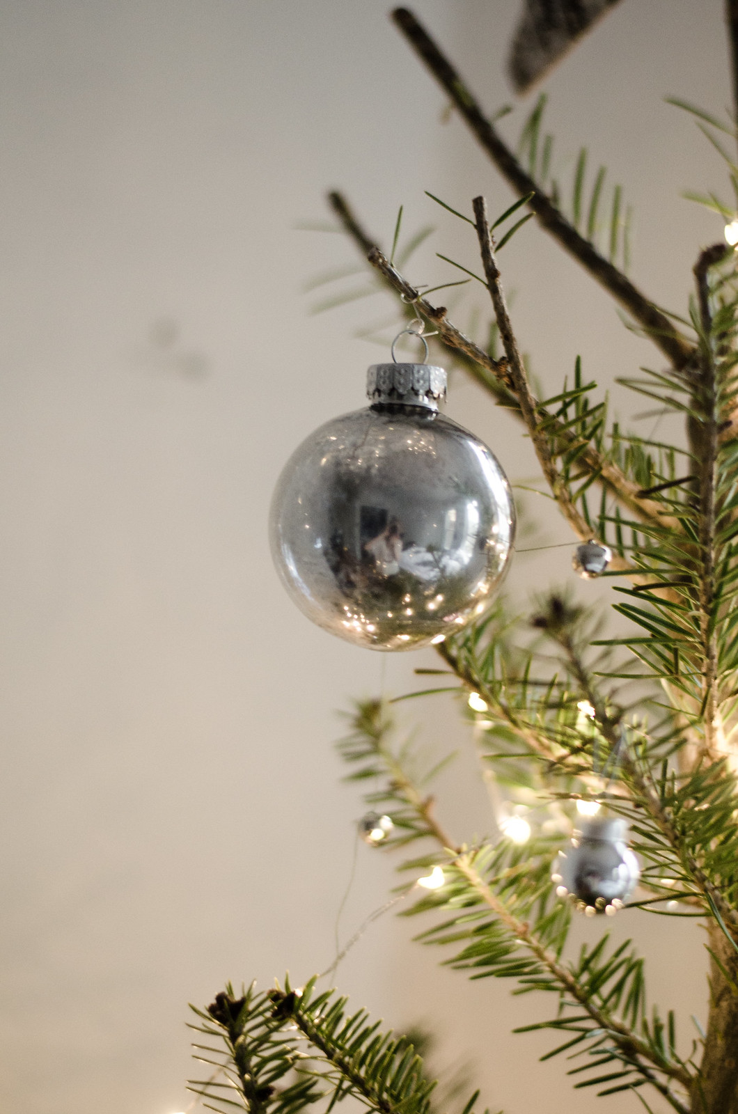 DIY Mercury Glass Christmas Ornaments on juliettelaura.blogspot.com