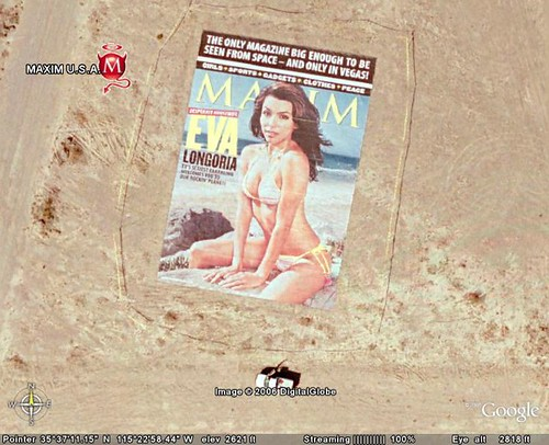 Maxim cover as KML advertising on Google Earth | by MarkWallace