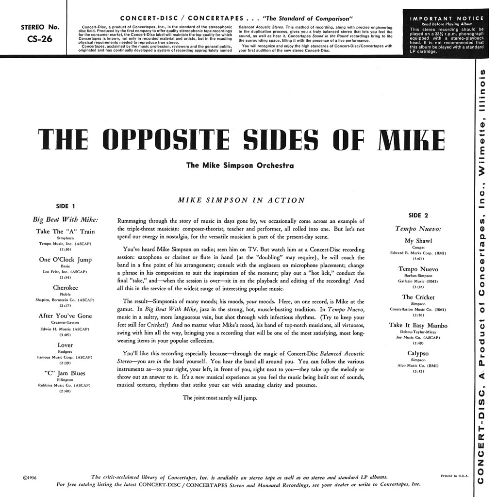 Mike Simpson - The Opposite Sides of Mike
