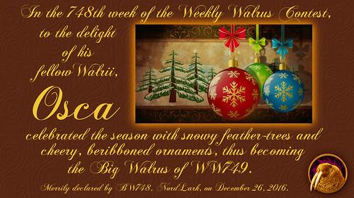 WW748 Certificate for Osca