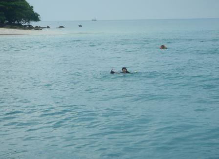 snorkling di pulau oar