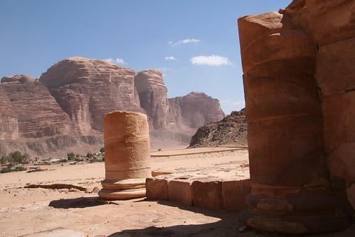 Temple ruins Wadi Rum