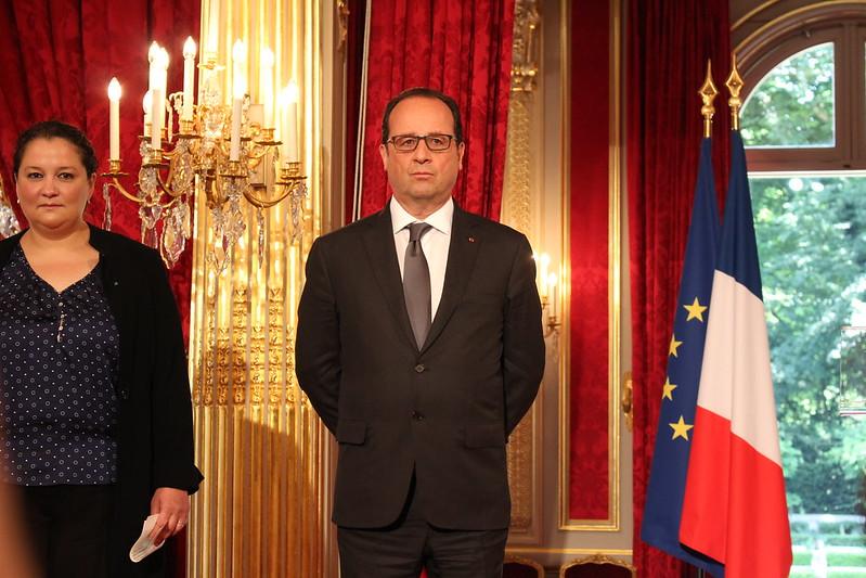 François Hollande - Prix de l'Audace artistique et culturelle 2015