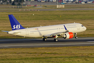 Delivery of an Airbus A320neo for SAS