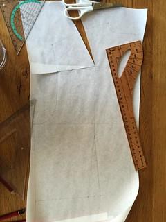 pattern drafting Lila Dress Shirt bust darts