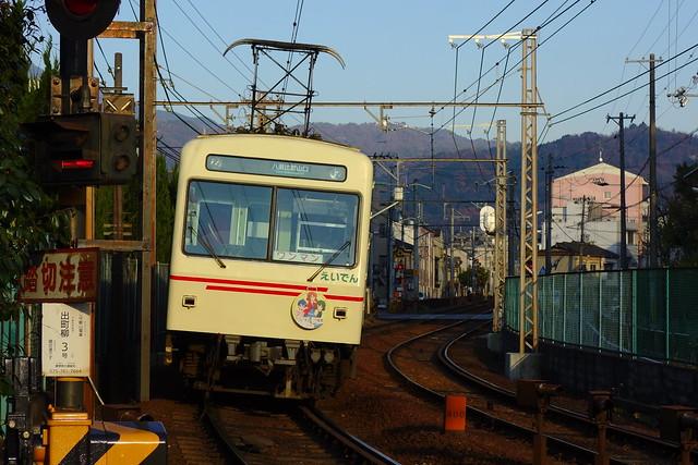 2016/12 叡山電車×きんいろモザイクPretty Days ラッピング車両 #12