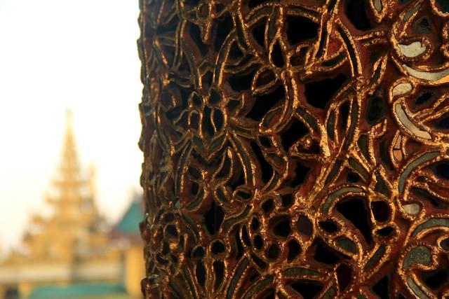 Pillars, Shwedagon Pagoda