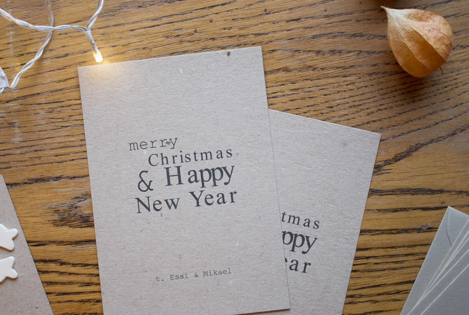 minimalistiset itse tehdyt joulukortit 2