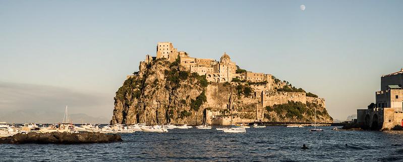 Panorámica del Castillo Aragonés de Ischia