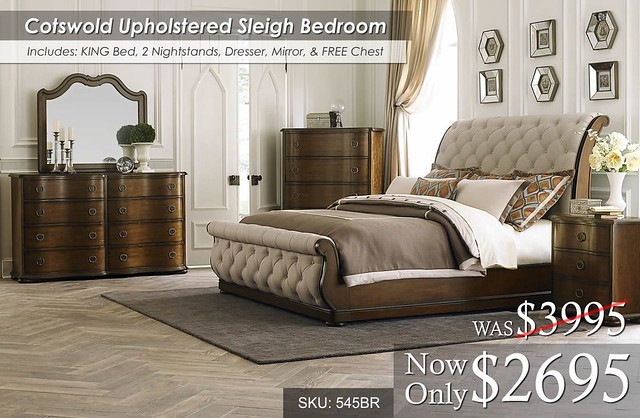Cotswold Upholstered Bedroom Set 545BR