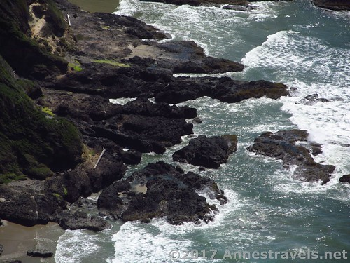 Lava flows in Cape Perpetua, Oregon