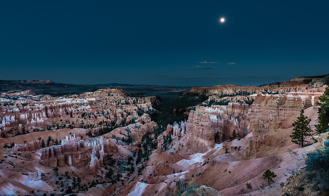 Moonlight over Bryce Canyon
