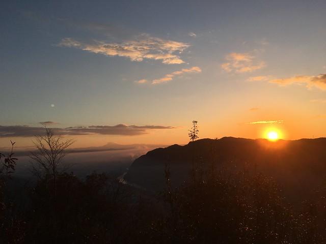 城山 猿啄城展望台 初日の出