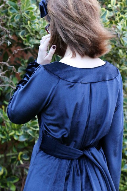 By Hand London Alix Dress in stretch velvet