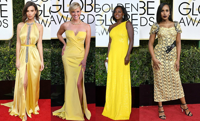 Who wore what at 74th Golden Globe Awards 2017, yellow gowns