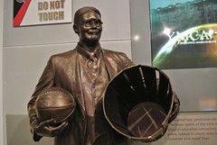 James Naismith with his peach basket