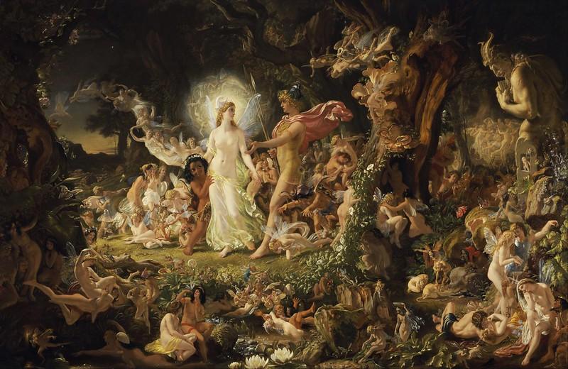 Joseph Noel Paton - The Quarrel of Oberon and Titania (1849)