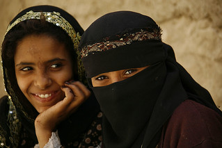 Smiling veiled girls in Yemen | by Eric Lafforgue