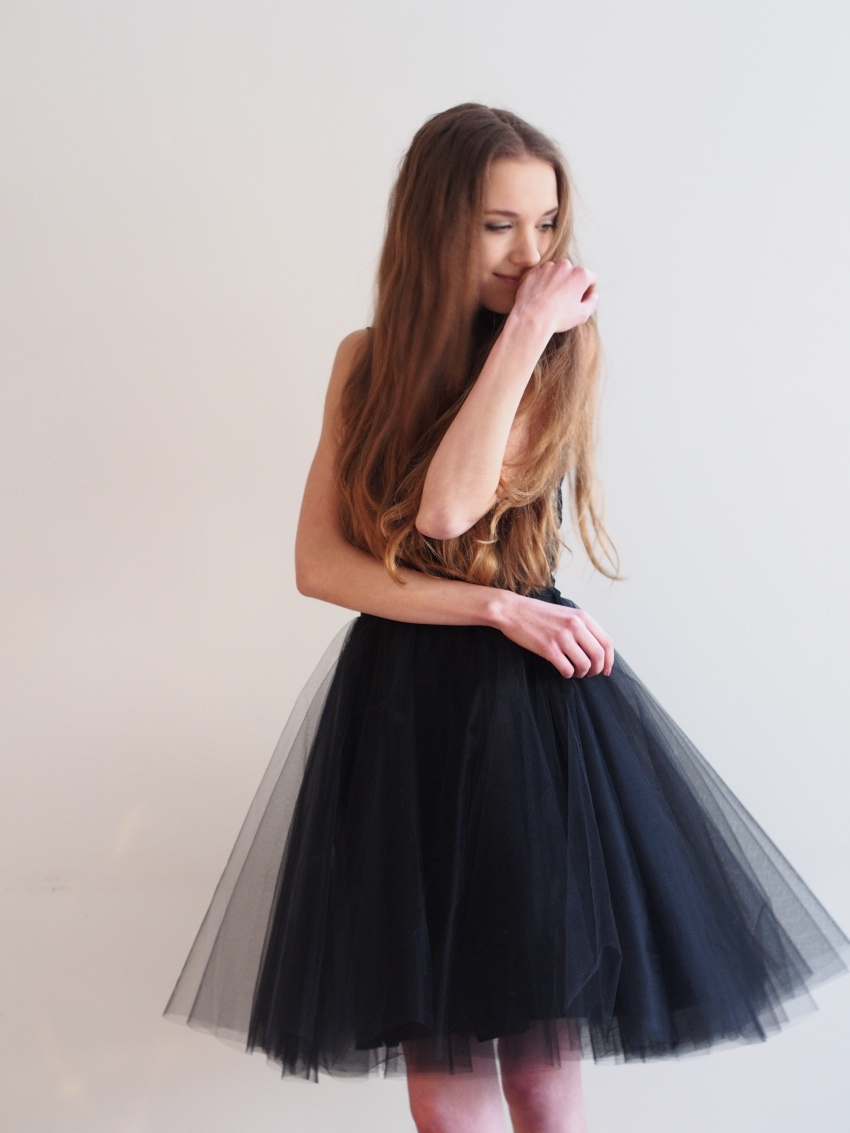 jones+jones black tulle dress