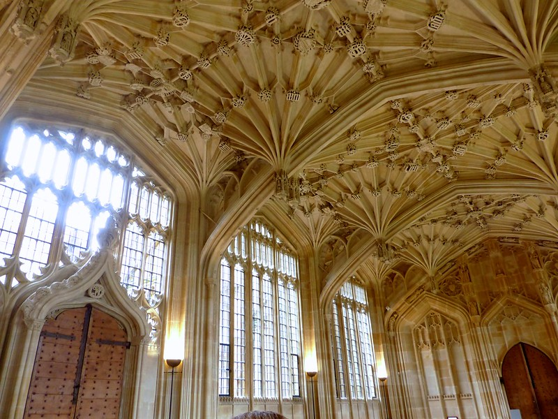 This is a picture of the divinity school used when filming Harry Potter