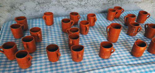 Coffee tasting cups at an organic coffee plantation in San Sebastian, a Pueblo Magico up in the mountains above Puerto Vallarta