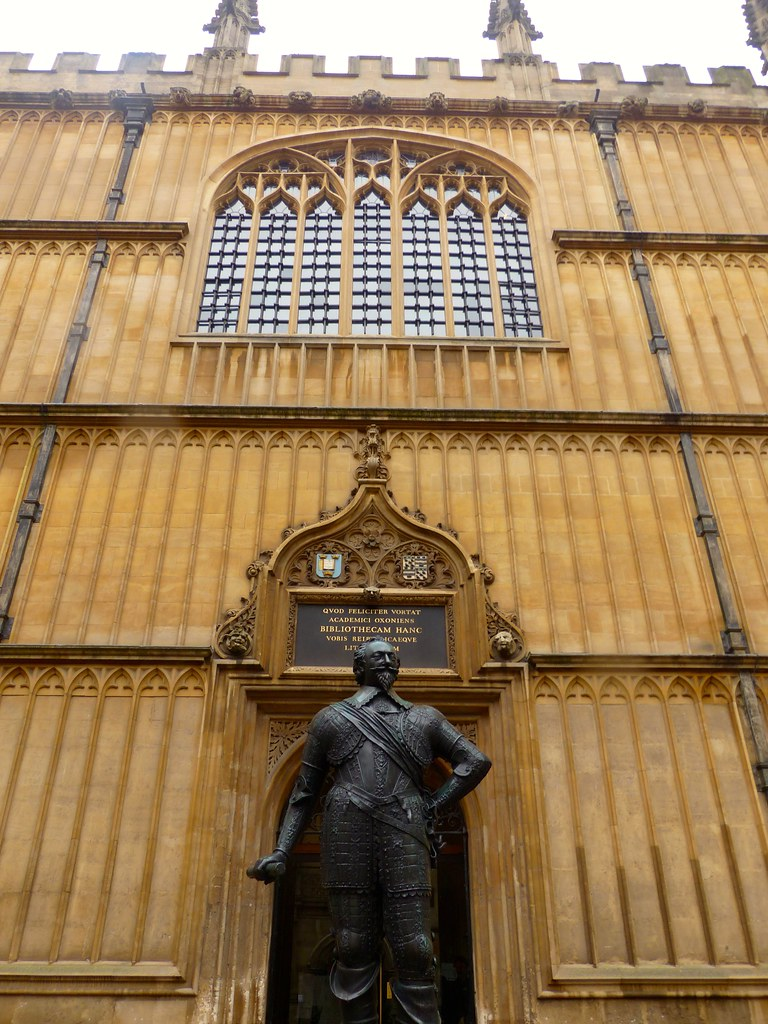 This is a picture of the Bodleian Library entrance