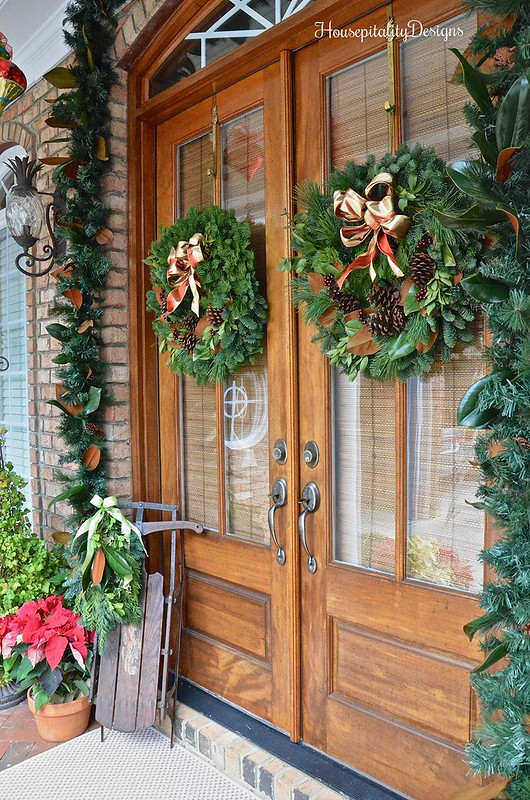 Front Doors-Christmas-Porch-Housepitality Designs