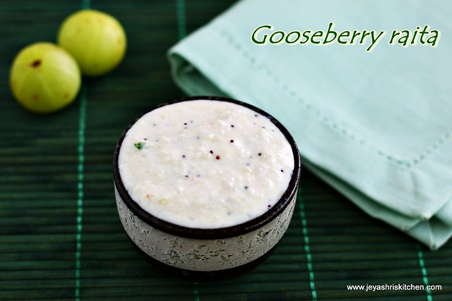 Gooseberry raita
