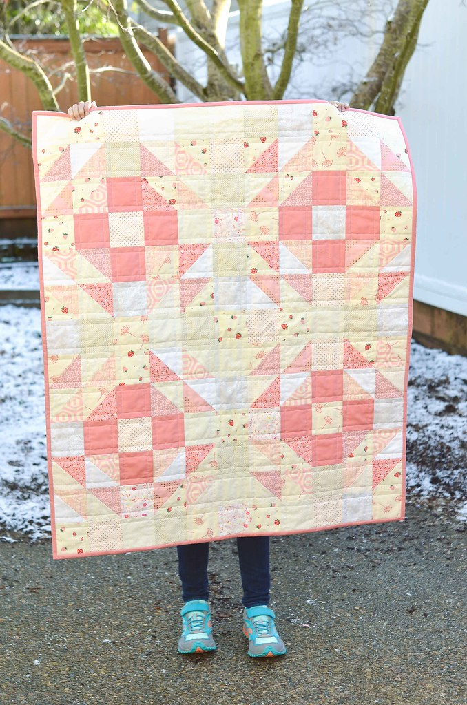 Pretty pink baby quilt