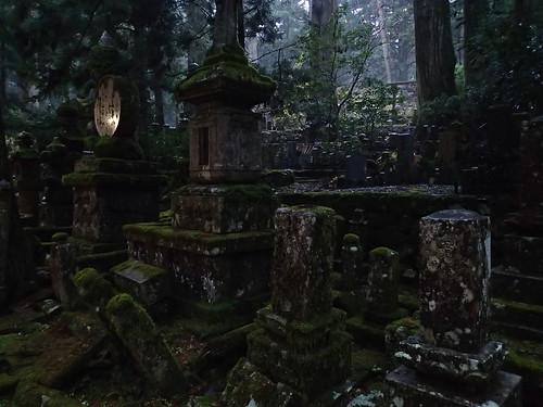 Koyasan Okunoin Cemetery walk at night (1)