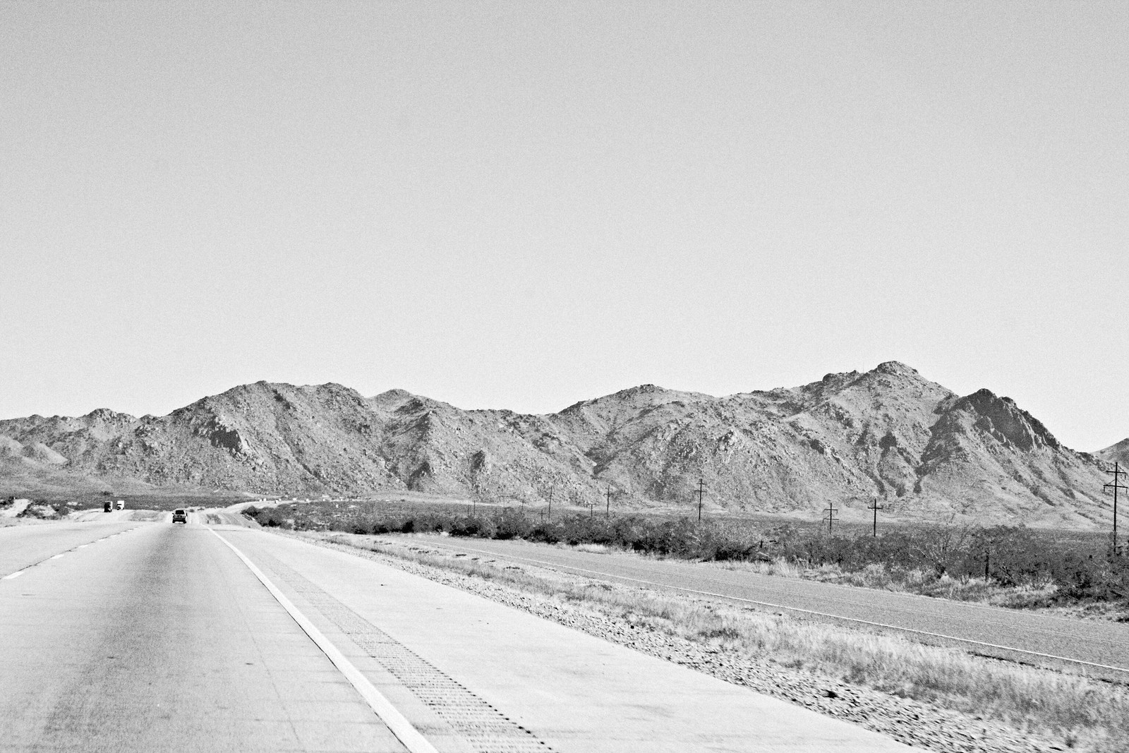 Interstate 10 and Mountains, West Texas, 2006